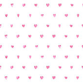 Seamless polka dot pink hearts pattern Hearts of small mosaic faceted triangles