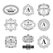 Luxury logo template ornament labels set