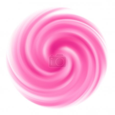 Illustration for Milk Yogurt Cream Curl bright pink strawberry sweet background - Royalty Free Image