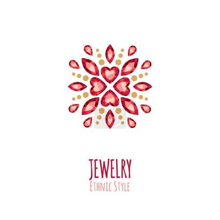 Elegant gemstones vector jewelry decoration.