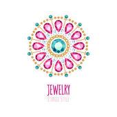 Elegant gemstones vector jewelry decoration