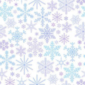 Falling snowflakes colorful seamless pattern