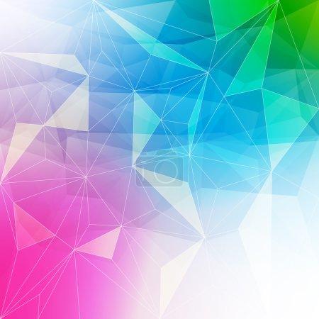Illustration pour Fond abstrait coloré en cristal. Structure en glace ou en bijoux. Couleurs vives rose, bleu et vert - image libre de droit