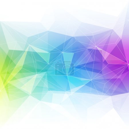 Illustration for Colorful abstract crystal background. Ice or jewel structure. Blue, green and purple bright colors - Royalty Free Image