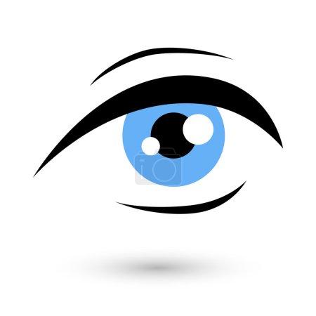 Illustration pour Logo oeil de femme symbole de beauté. Icône Vision - image libre de droit