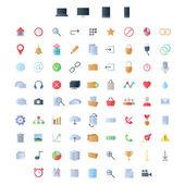 Sada ikon pro ui uživatelské rozhraní mobilních zařízení a webové aplikace