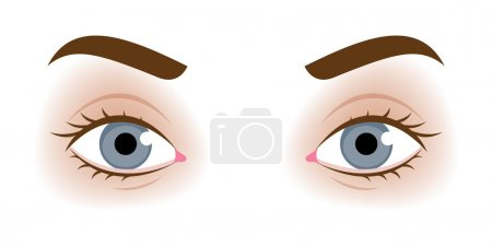 Realistic womans eyes vector illustration.