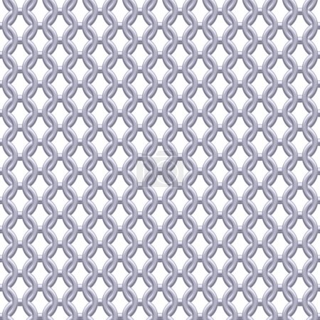 Illustration for Chain armor, coat of mail seamless realistic metallic silver texture. Abstract background vector illustration - Royalty Free Image