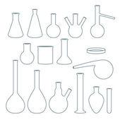 Chemical flasks set vector illustration