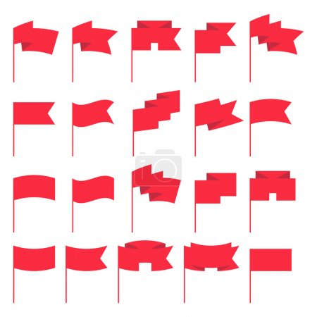 Small flags templates set vector illustration.