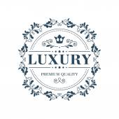 Flourish logo template ornament label