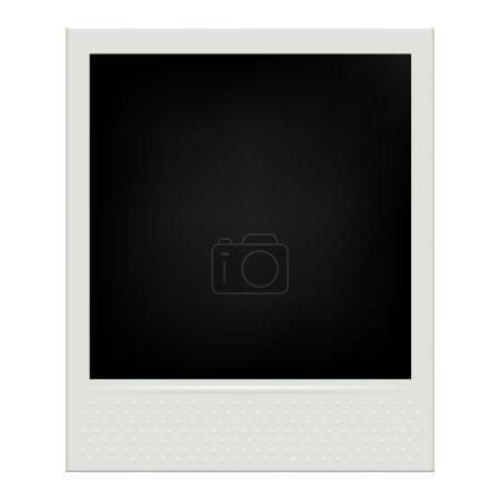 Instant film realistic polaroid frame isolated vector illustration