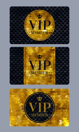 VIP member cards with abstract background