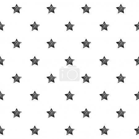 Stars scribble sketch pattern background.