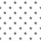 Stars scribble sketch seamless pattern background Hand drawn vector illustration