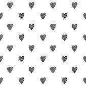 Hearts scribble sketch pattern background