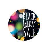 Černý pátek prodej ilustrace. Reklamní poutače