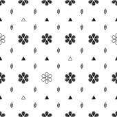 Floral scribble sketch seamless pattern background Hand drawn vector illustration with flowers and leaves