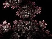 Red and black fractal pattern, digital artwork for creative graphic design