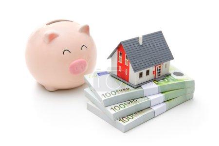 Foto de Home finances, building savings and realty investments concept - Imagen libre de derechos