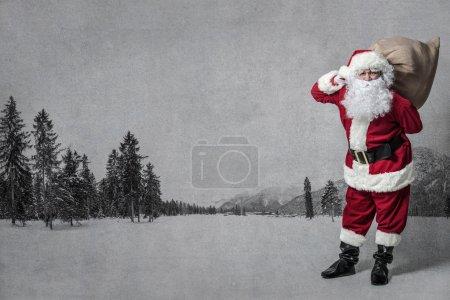 Photo for Santa Claus with a big bag of presents - Royalty Free Image