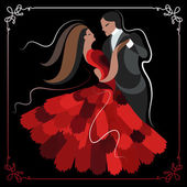 Illustration of a couple dancing the waltz 6