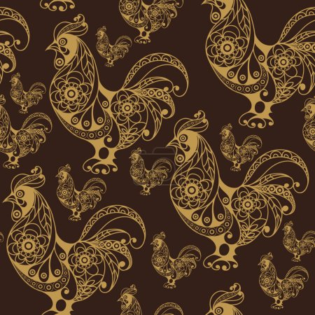 Seamless pattern with lace cock 43