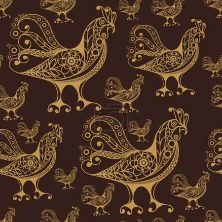 Seamless pattern with lace cock 49
