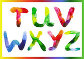 Colorful watercolor alphabet 4