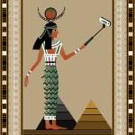 Egypt woman. Monopod selfie. Self portrait tool fo...