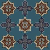 Floral abstract seamless pattern from decorative ethnic ornament elements