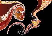 Woman with a cup of tea or coffee 8
