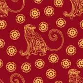 Seamless pattern with monkey 14