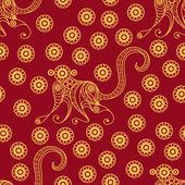 Seamless pattern with monkey 15