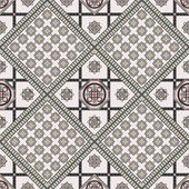 Art vintage abstract seamless pattern or texture (background) Ethnic geometric print Suitable for tile fabric cloth design wallpaper wrapping Vector illustration