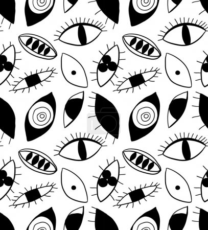 Illustration for Abstract eyes seamless pattern. - Royalty Free Image