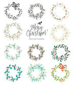 Set of Christmas wreaths
