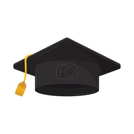 Illustration for Graduation cap grad isolated icon - Royalty Free Image