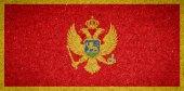 Vlajka Černé hory na pozadí