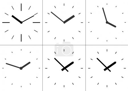 Illustration for Wall mounted digital clock. Vector illustration. - Royalty Free Image