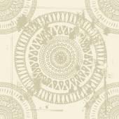 Hand drawn shabby indian  seamless pattern