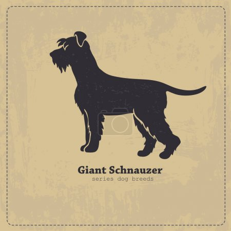 Giant Schnauzer dog silhouette