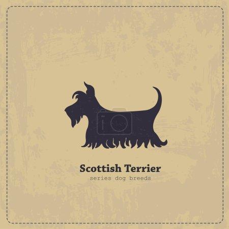 Vintage Scottish Terrier poster