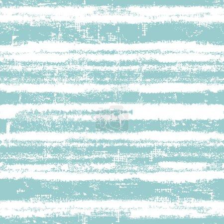 Illustration pour Modèle sans couture avec des rayures bleues fraîches. Tous les éléments de composition situés sur des couches séparées et peuvent être facilement modifiables - image libre de droit