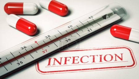 Medical Concept, Infection and high temperature