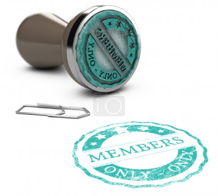 Photo for Rubber stamp image with the text members only printed on a white background. Communication concept for Illustration of membership - Royalty Free Image