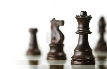 Chess Game over White Background