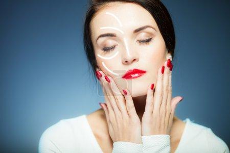 Beauty face concept, anti aging procedures