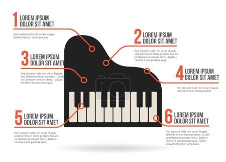 Illustration pour Icône de clavier de piano, infographie vectorielle - image libre de droit
