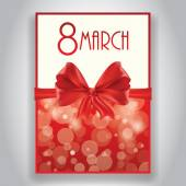 Gift card for 8 march women's day vector